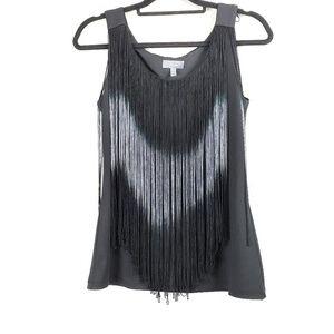 Neiman Marcus Black Top Sleeveless Strings S
